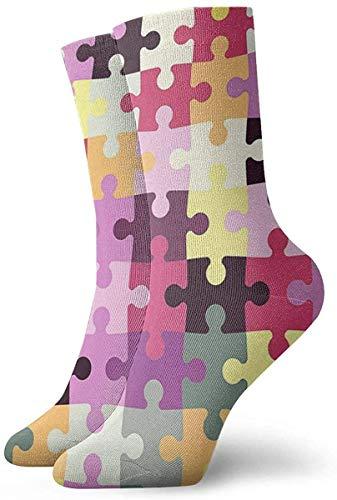 Crew Socks,Compression Socks,Casual Socks,Athletic/Sport Sock,Autism Awareness Puzzle Piece Moisture Control Running Socks Durable Breathable Training Socks