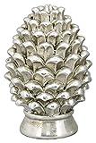 Exner dekorativer ausgefallener Pinien-Zapfen Deko-Zapfen Altsilber in eleganter Shabby Landhaus-Optik (klein)
