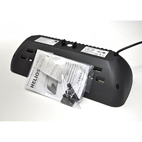 HELIOSA 66 Infrarotstrahler 2000 Watt IPX5, aus robustem Aluminium-Druckguss hergestellt und mit thermoplastischen Lacken für den Außenbereich lackiert. Kurzwellen – Heizstrahler für Indoor und Outdoor geeignet, Farbe: Anthrazit - 6