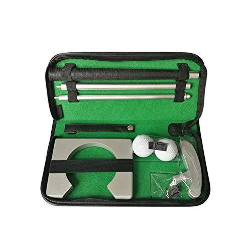 YXQQ Sistema Portátil De Putter De Golf con Taza De Bolas, Aleación De Aluminio Premium Putters Putters Dispositivo De Retorno Diseño Desmontable Mejorar Habilidades, para Viajes Regalo Interior