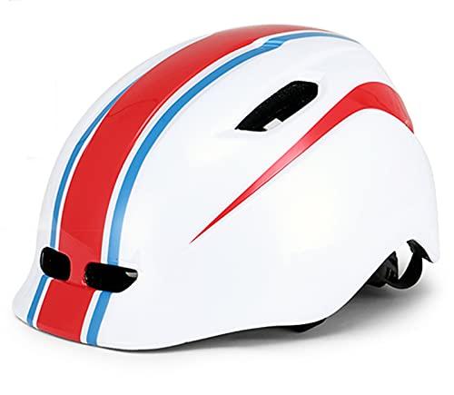 HBRE Casco Bicicleta Nino,Certificado CE Ajustable Ligero Integral Casco De Seguridad 4 Orificios De VentilacióN Y Correa Ajustable,para Deportes Al Aire Libre 13.2-17.8cm,Red