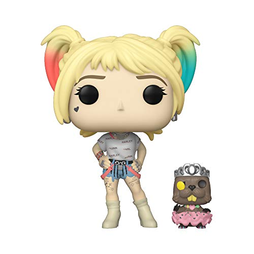 Funko- Pop Heroes: Birds of Prey-Harley Quinn w/Beaver Collectible Figure, Multicolor (44378)