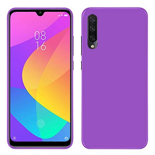 TBOC Funda de Gel TPU Morada para Xiaomi Mi A3 [6.09 Pulgadas] Carcasa de Silicona Ultrafina y Flexible para Teléfono Móvil