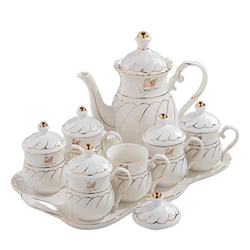 Sistema determinado de la taza de té de la porcelana de la taza, taza de té determinada de China de la taza de café con la bandeja