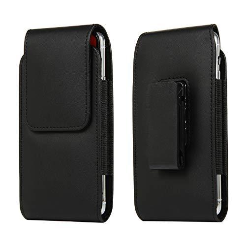 Funda de piel con clip para cinturón para iPhone 12 Pro Max, 11 Pro Max, XS Max, 8 Plus, 7 Plus, 6 Plus, 6S Plus, funda para teléfono celular, tamaño de 6.7 pulgadas