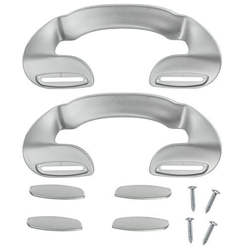 SPARES2GO Deurkruk voor Bauknecht Koelkast Vriezer (190mm, Zilver, Pack van 2)