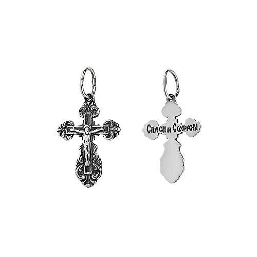NKlaus 925er Sterlingsilber Silber Kruzifix Kreuz Anhänger Orthodox russisch 6214 Taufe