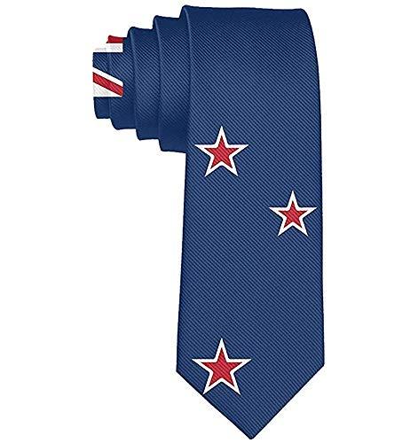 WILHJGH Corbata Corbatas Divertidas Coloridas Usa Nueva Zelanda Bandera Moda Novedad Corbatas Para Hombres teen