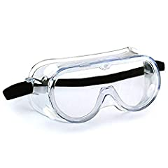 Anti-Fog Wide-Vision Lab Safety Goggle,Eye Protection for Classroom Lab, Home, and Workplace Safety Safety Goggle Chemical Splash and Impact Resistant Goggle Clear Anti-Fog/Anti-Scratch Coating Protective Eyewear Polycarbonate lens: clear lens, good ...