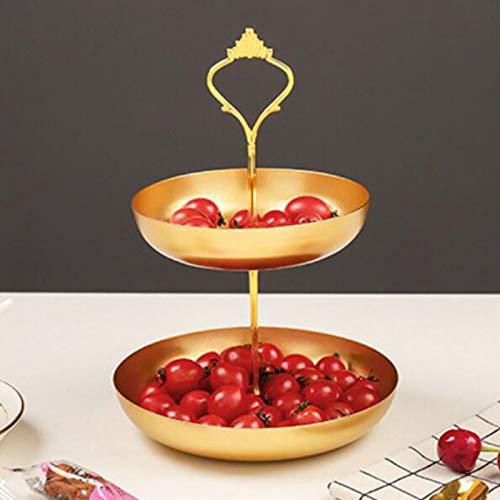 Estante de joyería de Doble Capa Dorado Simple Estante de cosméticos para el hogar Estante de exhibición de joyería Estante de Almacenamiento de Joyas