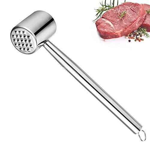 XunHe Fleischklopfer Werkzeug für Fleischhammer, Robuster Fleischklopfer aus Edelstahl, Schnitzelklopfer Fleischklopfer spülmaschinengeeignet