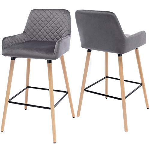 somubi Juego de 2 sillas de comedor de terciopelo de cocina para el hogar