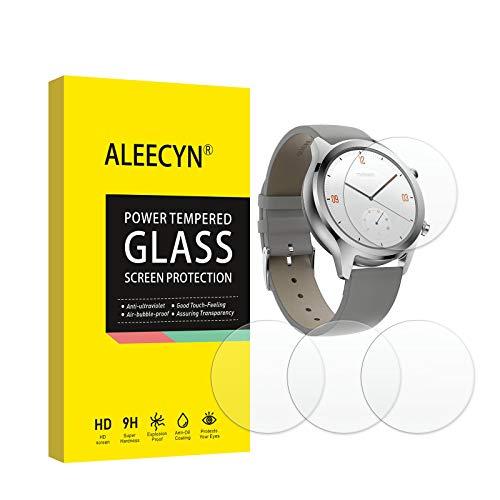 [4 Stück] Panzerglas Schutzfolie Kompatibel mit Ticwatch C2/S2/E2, 9H Festigkeit, 2.5D Rand, Kratzfest, Blasenfrei, HD Bildschirmschutzfolie für Ticwatch C2