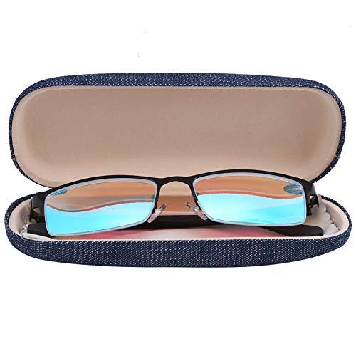 Haowecib Gafas ciegas Rojo-Verde, Elegantes Gafas correctivas Ligeras con Caja de Almacenamiento para miopía para daltonismo