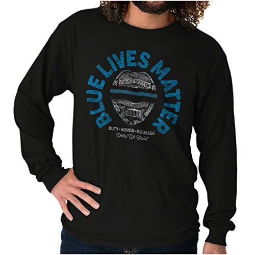 Blue Lives Matter Police Officer Law Cop Long Sleeve T Shirt
