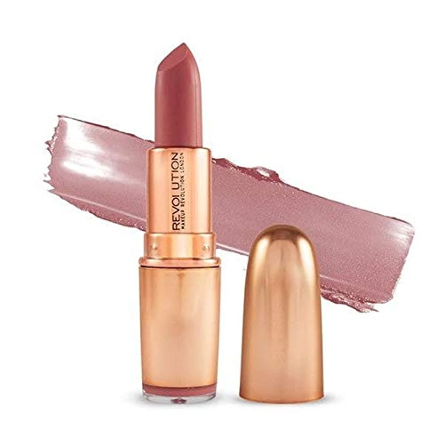 ショートカット急勾配の故障[Revolution ] 革命の象徴的なマットヌード口紅の欲望 - Revolution Iconic Matte Nude Lipstick Lust [並行輸入品]