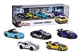 Majorette Porsche 5er Geschenkeset, 5 Fahrzeuge, Spielzeugautos mit Federung, Modelle: Porsche 911 GT3 RS, Porsche 718 Boxster, Porsche Panamera, Porsche 934, inkl. 2 exklusive Modelle, 7,5...