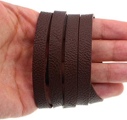 1Meter Ultra-Cheap Deals Flat Popular PU Leather Cord Width Strap 10mm-Flat Fin