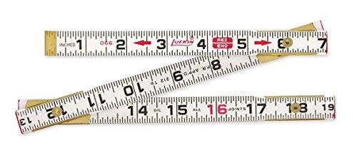 Lufkin 066F 6-Flat Read Wood Folding Rule