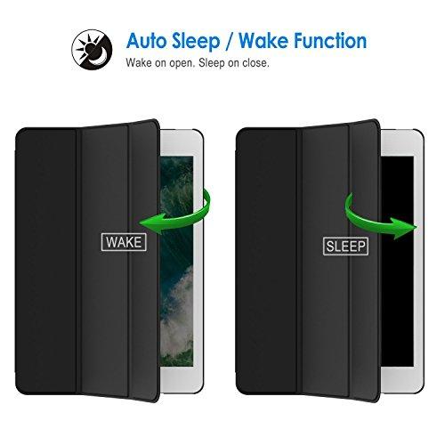 『JEDirect iPad mini 1 2 3 ケース 三つ折スタンド オートスリープ機能 (ブラック)』の3枚目の画像