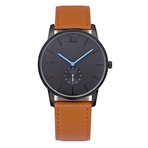 Reloj Lord Timepieces. De piel, color negro, marrón, azul.