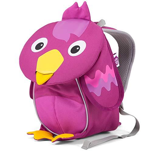 Affenzahn Kleiner Freund - Kindergartenrucksack für 1-3 Jährige Kinder im Kindergarten und Kinderrucksack für die Kita - Vogel - Lila