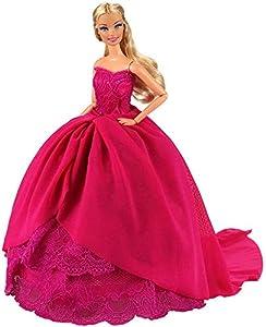 Miunana 1 Princesa Elegante Vestido de Noche Novia Vestir Boda Ropa de Fiesta para 11.5 Pulgadas 28 -30 CM Muñeca