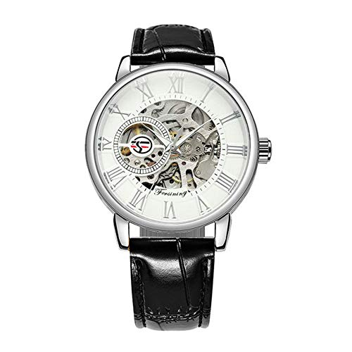 3D Logo Black Gold Men Skeleton Mechanical Watch Hombre Relojes Top Brand Luxury Leather Winner Design Montre Homme 2020
