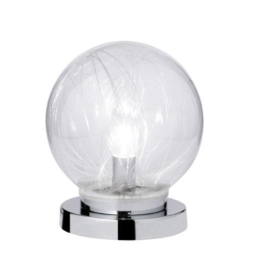 Action tafellamp 2-spots, Mystic, 1x E14 / 14 watt, 240 volt, hoogte: 22 cm/diameter 20 cm/glazen bol met RGB LED, inclusief schakelaar, chroom 868302010200