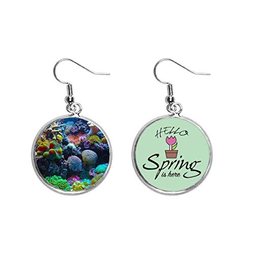 Océano Colorido Coral Ciencia Naturaleza Imagen Decoración Cuelga Temporada Primavera Pendiente Joyería