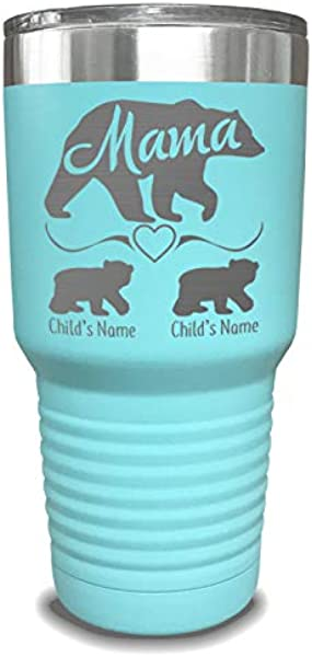 Mama Bear Personalized Tumbler Laser Engraved Add Up To 10 Cubs Perfect Gift For Moms Or Mothers Day Gift