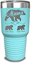Mama Bear Personalized Tumbler - Laser Engraved, add up to 10 Cubs - Perfect Gift for Moms or Mothers' Day ...