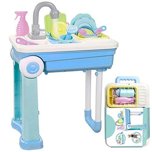 CORPER TOYS キッチンおもちゃ おままごとセット 家事ごっこ遊び 食器を洗う キッチンごっこ遊び キッチンおままごと 流し台 水遊び スーツケース 男の子 女の子 おもちゃ 8才以上