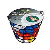 Crestgolf Pelotas de práctica de Golf 1 Juego (50 Bolas de Colores Mezclados y Canasta de Metal) Bolas de plástico y Espuma para Entrenamiento de Golf