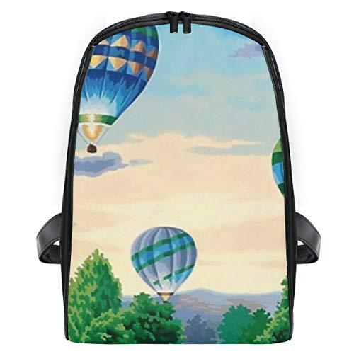 Fantazio - Mochila de viaje con diseño de globos de aire caliente, diseño de pintura