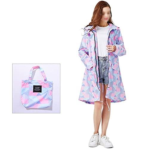 WMYATING Impermeable reutilizable impermeable con capucha, portátil y transpirable para caminar, ciclismo y campamento, mono desechable AA (color: púrpura)