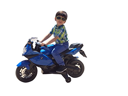 BEST RIDE ON CARS brings to you Licensed BMW Motorcycle 12V Kids Battery Powered Ride On Car - Blue