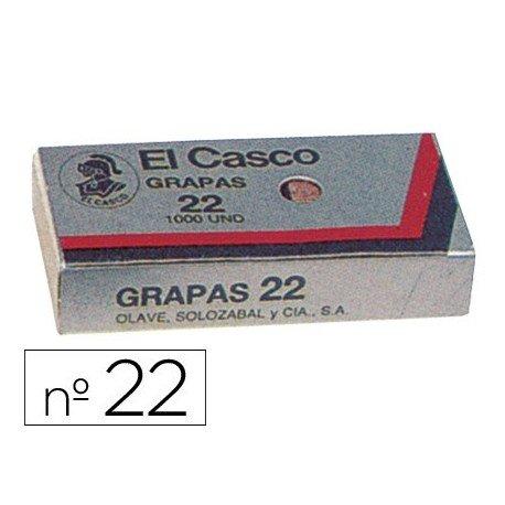 El Casco 129163: Caja de 1000 grapa galvanizadas