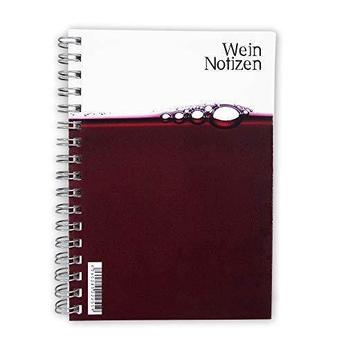 Susi Winter Design & Paper Praktisch wijnnotitieboek van natuurlijk papier, merk snel en eenvoudig wijn.