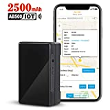 GPS Tracker for Vehicles, 2500mAh IoT Real-time GPS Tracking Device for Car NB-IoT Cat-M 4G Small Hidden GPS Locator for Vehicle, Car, Personal, Valuable - with Global SIM Card - 30-Days