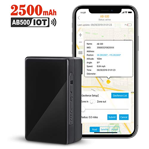 GPS Tracker for Vehicles, 2500mAh IoT Real-time GPS...