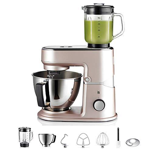 WMF KܜCHENminis Mini-Küchenmaschine, platzsparend, Mixer für Smoothies, 3l-Schüssel, Softanlauf, Planeten-Rührwerk, 8-stufige Knetmaschine, 3 Rührwerkzeuge, 430W, edelstahl matt, rose
