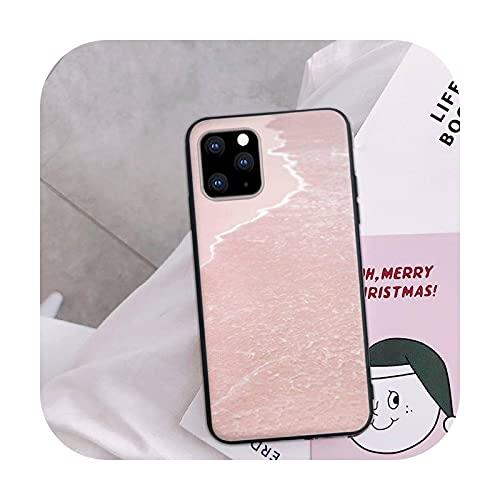 Funda de teléfono rosa para iPhone 5s 6 6s 6s Plus 7 8 7plus 8plus X Xs negro suave TPU silicona Shell-a3-para iphone 6s plus