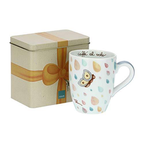 THUN ® - Mug con scatola in latta'Pioggia di colori'