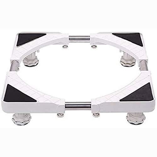 PHOOW Base del frigorífico Muebles telescópicos básicos de múltiples movibles multifuncionales Dolly con Ruedas de Cierre de Goma de Bloqueo para secador, Lavadora y Nevera (Size : 4feets)