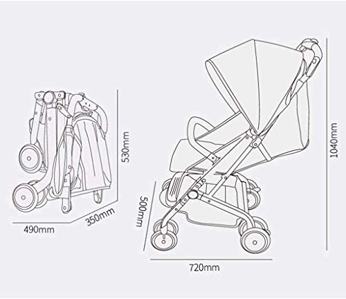 LAMTON Baby Stroller for Newborn, Stroller Stroller Shock Absorber Umbrella Light and One-Handed Foldable Comfortable Sitting, 5 (Color : Red1) LAMTON Adjustable handlebars for people of all heights can adjust the most comfortable push position Easy to fold, can be picked up in the trunk of the car, his parents urge him to go shopping, travel, walk, play and talk, or picnic outdoors The aluminum alloy triangle frame is safer, safer and more secure. 2