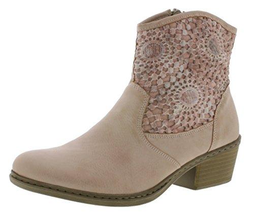 Rieker 75581 Damen Stiefel, Boots, Stiefeletten rosa (Rose/Altrosa / 31), EU 39
