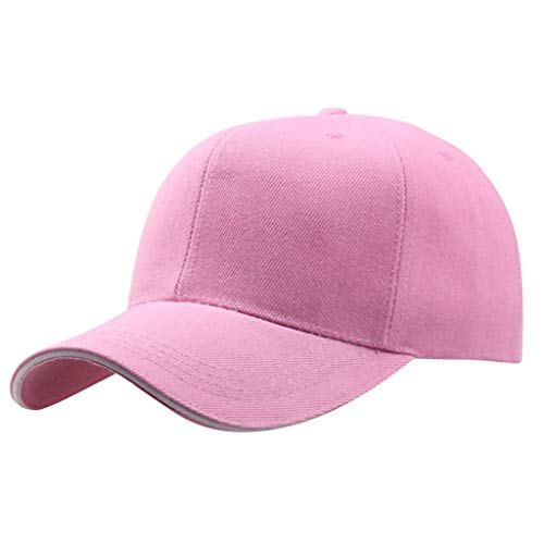 CofeeMo Solid Color Baseball Caps, Unisex Cotton Classic Baseball Hat Low Profile Plain Dad Hats(Pink)