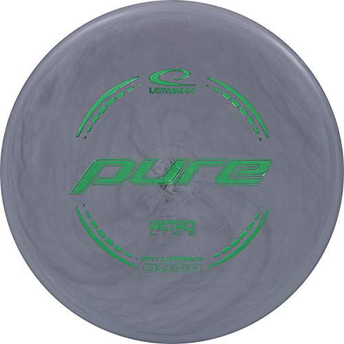 Latitude 64 Retro Pure Disc Golf Putter | Frisbee Golf Putt and Approach Disc | 170g Plus | Stamp Color Will Vary | Great Throwing Disc Golf Putter for Beginners (Gray)