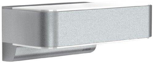 Steinel LED Außenleuchte L 810 LED iHF silber, 12,5 W, 858 lm, LED Wandleuchte, 160° Bewegungsmelder, 5 m Reichweite